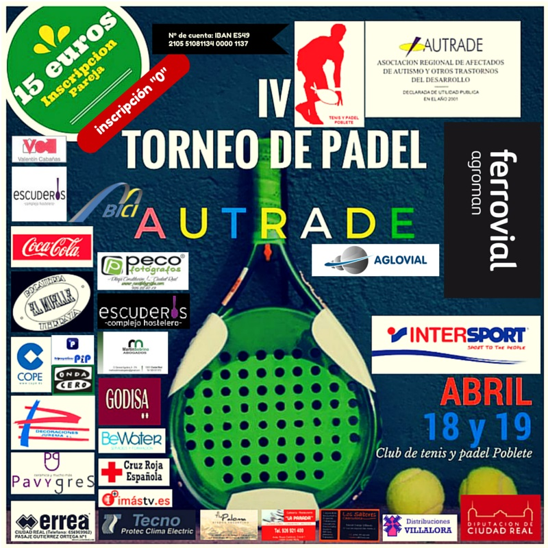 IV TORNEO DE PADEL BENEFICO AUTRADE